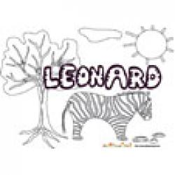 Leonard, coloriages Leonard