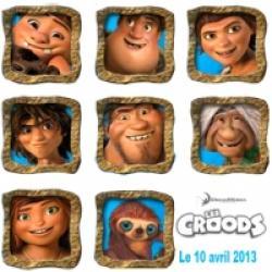Les Croods : les personnages du film