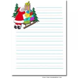 Papier à lettre Père Noël à imprimer