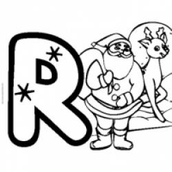 Coloriage alphabet de Noël