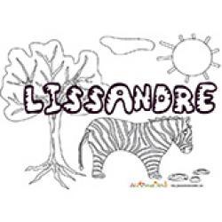 Lissandre, coloriages Lissandre