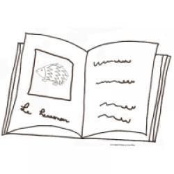 coloriage d'un livre