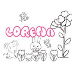 Lorena, coloriages Lorena
