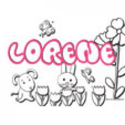 Lorene, coloriages Lorene