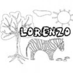 Lorenzo, coloriages Lorenzo