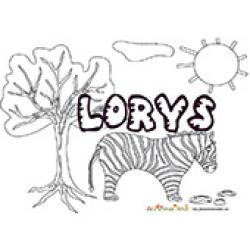 Lorys, coloriages Lorys