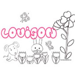Louison, coloriages Louison