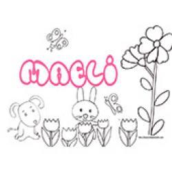 Maeli, coloriages Maeli