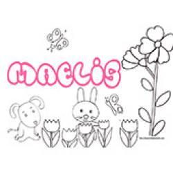 Maelis, coloriages Maelis