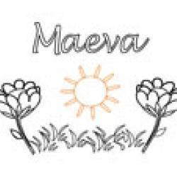 Maeva, coloriages Maeva