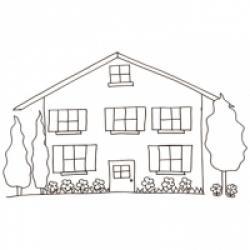 Coloriage d'une maison