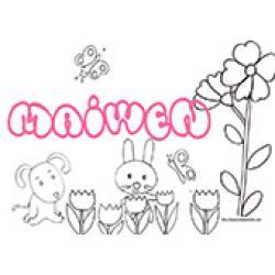 Maiwen, coloriages Maiwen