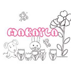 Makayla, coloriages Makayla