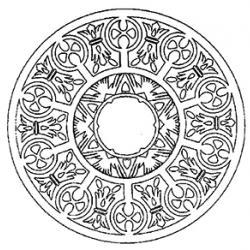 coloriage d'un mandala complexe