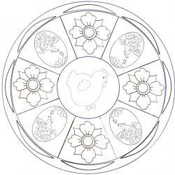 Mandala, mandalas de Pâques à colorier