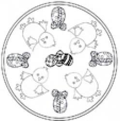 Mandala Pâques poussin