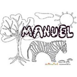 Manuel, coloriages Manuel