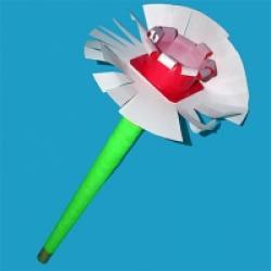 Maracas en forme de fleur à corolle
