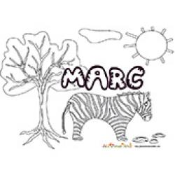 Marc, coloriages Marc