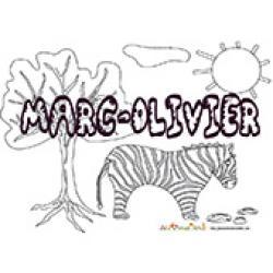 Marc-Olivier, coloriages Marc-Olivier