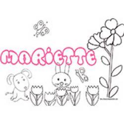 Mariette, coloriages Mariette