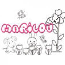 Marilou, coloriages Marilou