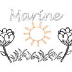 Marine, coloriages Marine