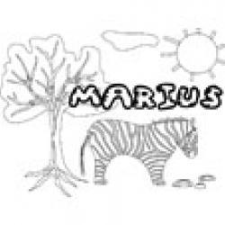 Marius, coloriages Marius