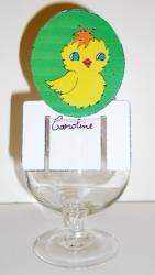 Fabriquer des marque place de Pâques en carton