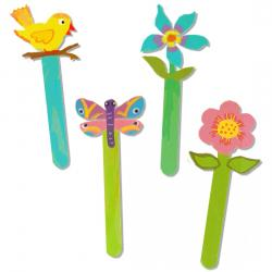 Marque-pages fleurs et oiseaux
