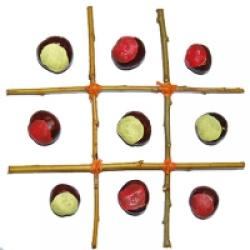 jeu morpion avec des marrons