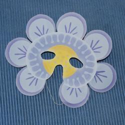 Bricolage pour réaliser un masque de fleur à imprimer et colorier ou à découper et coller. Deux versions sont proposées pour réaliser ce masque de fleur. Le masque fleur est réal