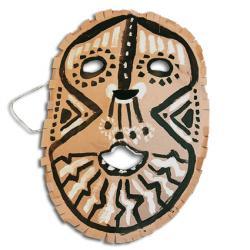masque africain en papier