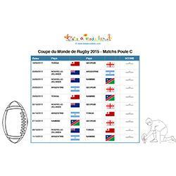 Poule C - matchs rugby coupe du monde  2015