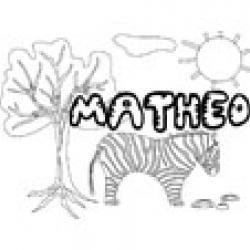 Matheo, coloriage Matheo