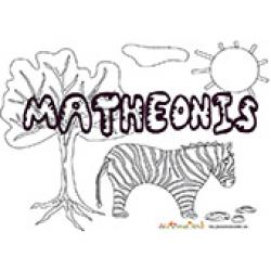 Matheonis, coloriage Matheonis