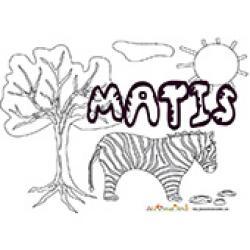 Matis, coloriage Matis