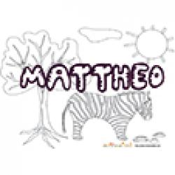 Mattheo, coloriages Mattheo