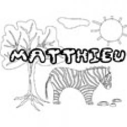 Matthieu, coloriage Matthieu