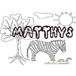Matthys, coloriage Matthys, coloriage Matthys