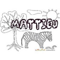 Mattieu, coloriage Mattieu