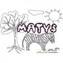 Matys, coloriage Matys