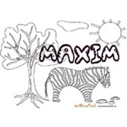 Maxim, coloriages Maxim