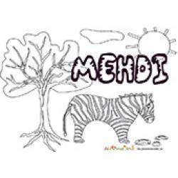 Mehdi, coloriages Mehdi