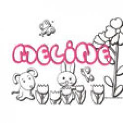 Meline, coloriages Meline