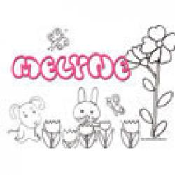 Melyne, coloriages Melyne