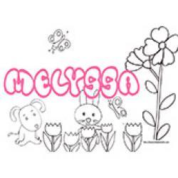 Melyssa, coloriages Melyssa