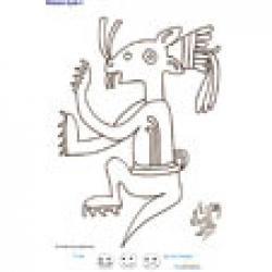 Imprimer la fiche de graphisme sur le mexique 5 : jaguar assis