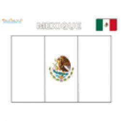 Coloriage du drapeau du Mexique