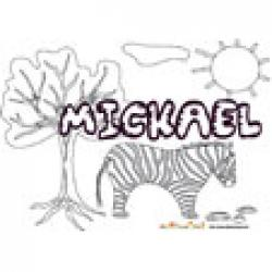 Mickael, coloriages Mickael